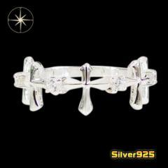 クロスリング(10)CZ11号・12号・13号・14号・15号/【メイン】 十字架 クロス 指輪 レディース  シルバー925銀 レディース メンズ