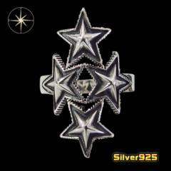 スターリング(17)14号フリーサイズ/【メイン】 星 スター   指輪 シルバー925銀 レディース メンズ