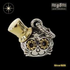 good vibrations【GV】ネコのペンダント(1)SV+B/【メイン】 猫 ねこ 帽子  ペンダント・ネックレス シルバー925銀 レディース メンズ
