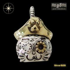 good vibrations【GV】ネコのペンダント(2)SV+B/【メイン】 猫 ねこ 海賊  ペンダント・ネックレス シルバー925銀 レディース メンズ