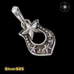スモールホースシュー(6)/【メイン】 馬蹄 蹄鉄 スター 星 ペンダント・ネックレス シルバー925銀 レディース メンズ