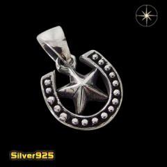 ホースシュー(10)スター/【メイン】 馬蹄 蹄鉄 スター 星 ペンダント・ネックレス シルバー925銀 レディース メンズ