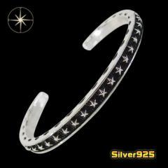 スターバングル(6)/【メイン】 星 スター 腕輪   シルバー925銀  メンズ