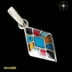 カラフルストーンペンダント(1)/【メイン】シルバー925銀ペンダントネックレス天然石