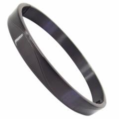 ステンレス バングル(1)黒シンプル (メイン) 送料無料 サージカルステンレス メンズ レディース ブラックコーティング