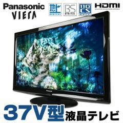 37V型液晶テレビ Panasonic VIERA TH-37LRG20J 地上デジタル BSデジタル 110度CSデジタル リモコン・B-CASカード付属 ブラック【中古】