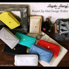 【LegatoLargo/レガートラルゴ】ラウンドジップメールデザインウォレット(レディース 財布 ウォレット 長財布 ロングウォレット ラウンド