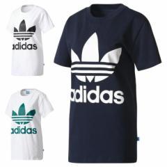 アディダス オリジナルス adidas Originals ビッグ トレフォイル Tシャツ BIG TREFOIL TEE レディース ネイビー ホワイト グリーン DTE99