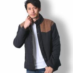 BUZZ WEAR バイカラー中綿ジャケット メンズ 秋冬春用 黒/青/紺 M-XL