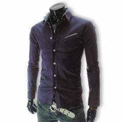 カジュアルシャツ メンズ ワイシャツ ボタンダウン 長袖 無地 ロールアップ トップス ビジネス コーデ 3000円以上送料無料