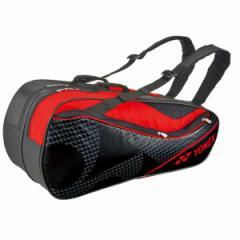ヨネックス ラケットバッグ6(リュック付) テニスラケット6本用 BAG1722R [カラー:ブラック×レッド] #BAG1722R-187 YONEX 送料無料