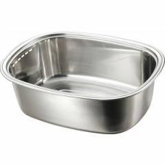 金伊工業 小判型洗い桶(ミラー) KANEI KOGYO 送料無料 キッチン用品