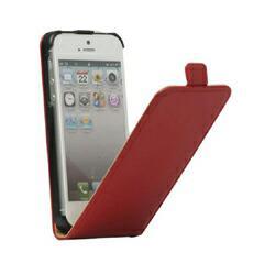 iPhoneSE / iPhone5s  iPhone SE iPhone 5s 高級感レザーケースカバー  レッド 電化製品