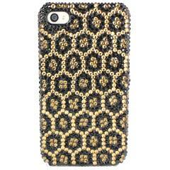 iPhoneSE / iPhone5s  iPhone SE iPhone 5s デコケース ラインストーン 豹柄 ゴールド 電化製品