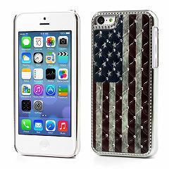 iPhone5c デコケース ビンテージアメリカ国旗 電化製品 Case for iPhone 5c
