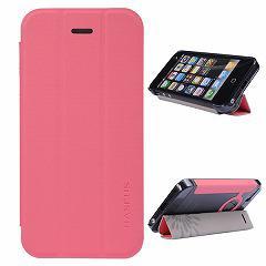 iPhoneSE / iPhone5s  iPhone SE iPhone 5s スタンド機能付き二つ折りケース 三つ折スタンド ピンク 電化製品