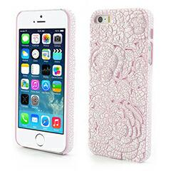 【iPhoneSE ケース】iPhoneSE / iPhone5s  iPhone SE iPhone 5s 浮彫りフラワーハードケース ピンク 電化製品 iPhone5 / iPhone 5s Case