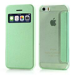 iPhoneSE / iPhone5s  iPhone SE iPhone 5s スリムウィンドウ二つ折りケース グリーン 電化製品 iPhone5 / iPhone 5s Case