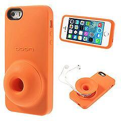 iPhoneSE / iPhone5s  iPhone SE iPhone 5s シリコンケース 収納& スタンド機能付き オレンジ 電化製品 iPhone5/iPhone5s Cases