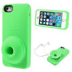 iPhoneSE / iPhone5s  iPhone SE iPhone 5s シリコンケース 収納& スタンド機能付き グリーン 電化製品 iPhone5/iPhone5s Cases