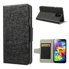 Galaxy S5 ギャラクシーS5 超薄軽量手帳型レザーケース ブラック 電化製品 Galaxy S5 Leather Cases