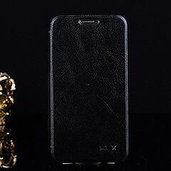Galaxy S5 ギャラクシーS5 軽量手帳型クレイジーホースフリップレザーケース ブラック 電化製品 Galaxy S5 Leather Cases