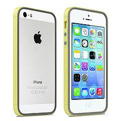 iPhoneSE / iPhone5s  iPhone SE iPhone 5s レインボーシリーズ ハイブリッドバンパーケース イエロー 電化製品