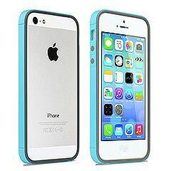 iPhoneSE / iPhone5s  iPhone SE iPhone 5s レインボーシリーズ ハイブリッドバンパーケース ブルー 電化製品 iPhone 5s 5 Bumper Cases