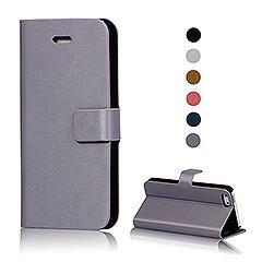 iPhoneSE / iPhone5s  iPhone SE iPhone 5s ウォレットフリップレザーケース スタンド機能付き パープル 電化製品