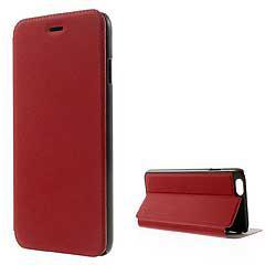 iPhone6s ケース / iPhone6 ケース 4.7 inch 手帳型/横開き 超薄型軽量 レザーケースカバー カードスロット スタンド機能付き レッド
