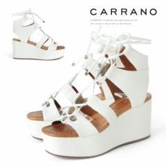 【SALE 30%OFFセール】 サンダル CARRANO ウェッジソール ハイヒール グラディエーター ヒール8cm カラーノ 靴 (672107) 【送料無料】 FC