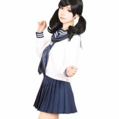 【コスプレ 制服 セーラー服】3点セット 白金学院制服 costume981 ゴスロリ♪ロリータ♪パンク♪コスプレ♪コスチューム♪メイド