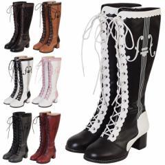 【ゴスロリ ロリィタ 靴】ブーツ パンプス 靴 シューズ コスプレ 22.5〜26.0サイズあり 7色展開 s532