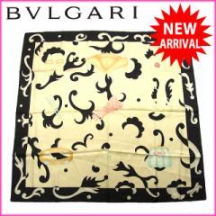 激安 人気 ブルガリ スカーフ ロゴ×ファッション小物 レディース【中古】 C1471