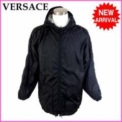 ヴェルサーチ VERSACE コート メンズ ジャンパー 裏地フリース メドゥーサ [中古] (良品・即納) G190