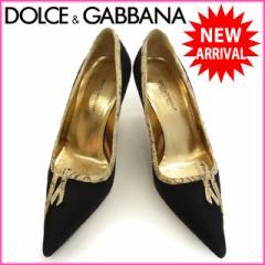 ドルチェ&ガッバーナ DOLCE&GABBANA パンプス 靴 レディース ♯36・パイソンパイピング [中古] (美品・即納) G289