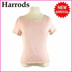 ハロッズ Harrods トップス レディース ショート丈 クルーネック ニット [中古] (良品・即納) R1007