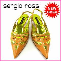 セルジオロッシ Sergio Rossi パンプス シューズ 靴 レディース ♯36ハーフ スリングバック ポインテッドトゥ [中古] 良品 セール J8238