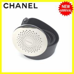 シャネル CHANEL ベルト レディース 丸型バックル [中古] 人気 セール J11517