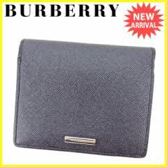 バーバリー BURBERRY 二つ折り 財布 メンズ可 美品 セール【中古】 T2877
