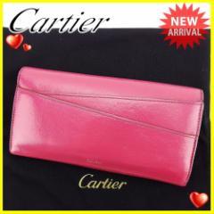カルティエ Cartier 長財布 三つ折り 財布 レディース 人気 セール【中古】 D1750