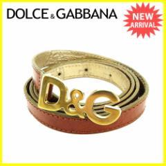 ドルチェ&ガッバーナ DOLCE&GABBANA ベルト レディース ドルガバ ロゴバックル人気 セール【中古】 J21732