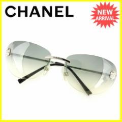シャネル CHANEL サングラス レディース カメリア美品 セール【中古】 D1718