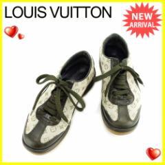 ルイ ヴィトン Louis Vuitton スニーカー シューズ 靴 レディース ♯34ハーフ ローカット モノグラムミニ 良品 セール【中古】 J21968