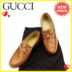 グッチ GUCCI ローファー シューズ 靴 レディース ♯37ハーフC ホースビット 人気 セール【中古】 L1798