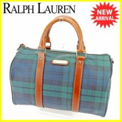 ポロ ラルフローレン Polo Ralph Lauren ボストンバッグ ハンドバッグ レディース メンズ 可 チェック 人気 セール【中古】 T5437