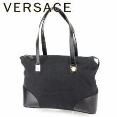 ヴェルサーチ Versace バッグ トートバッグ メデューサ レディース メンズ 中古 T7164