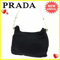 プラダ PRADA ハンドバッグ レディース ロゴプレート [中古] 人気 セール J16454