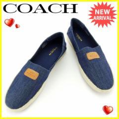 コーチ COACH シューズ スニーカー 靴 レディース ♯7B エスパドリーユ Q4055A5406 デニム [中古] 美品 セール J12661