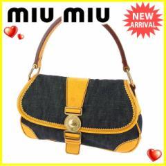 ミュウミュウ miumiu ハンドバッグ レディース デニム [中古] 美品 セール L973
